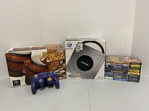 Nintendo Gamecube Platinum Console W/ Box - DK Bongos & 8 Game Bundle DOL-001