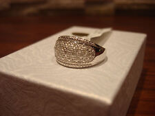 MACY'S STERLING SILVER 1/4 CARAT TW ROSE CUT DOME MCR7640 DIAMOND RING SIZE 7
