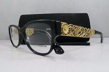Dolce & Gabbana DG 3185 501 Black New Authentic Eyeglasses 53mm w/Case