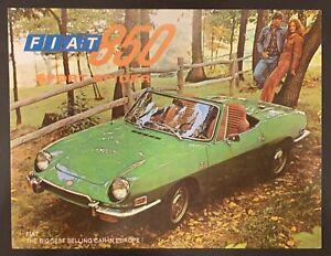 Original 1972 Fiat 850 Spider Sales Brochure