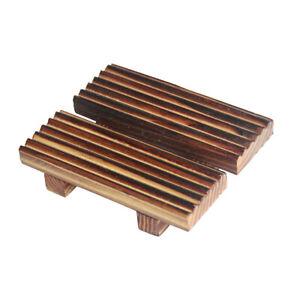 Retro Wood Soap Dish Holder Rack Tray Plate Dual-use Soap Box Storage Dispensers