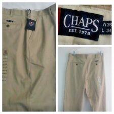Chaps Men's Classic Fit Straight Leg Khaki Pants Sz 36 x 34 (New With Tags)