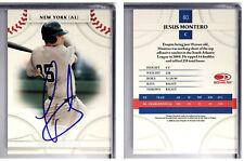 Jesus Montero Signed  2008 Donruss Threads #80 Card New York Yankees Auto