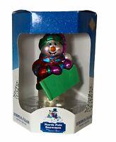 North Pole Snowmen: Santa's Best, European Style Glass, Item 859458, Sledding