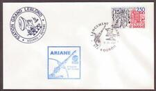 "France Space Cover 1988. ""Spacenet 3R"" ""Telecom 1C"" Launch. Ariane V21 Kourou #5"