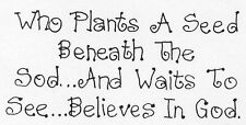 Unmounted Rubber Stamps, Christian Stamps, Sayings & Quotes, Gardening, Seeds