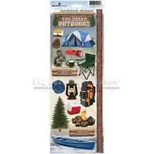 PAPER HOUSE CAMPING GREAT OUTDOORS NATURE HIKING CARDSTOCK SCRAPBOOK STICKERS