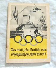 #D5. 1936 BERLIN OLYMPIC GAMES BOOKLET - GERMAN LANGUAGE