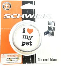 Schwinn Alloy Bicycle Bike Bell I Love My Pet Red Heart SW75287
