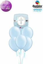 Party Supplies Boys Baptism Christening Communion Blessings Blue Balloons