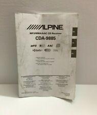 Alpine CDA-9885 MP3/WMA/AAC CD Receiver Owner's Manual
