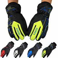Mens Women Winter Waterproof Snow Ski Skiing Snowboard Motorcycle Hiking Gloves