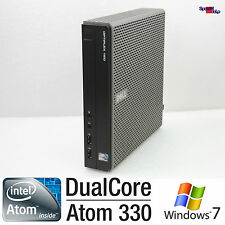 Dell OptiPlex 160 Intel Atom 330 DUAL CORE MINI piccoli PC Computer Windows XP 7