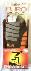 Euro Adult Unisex Snowboard Zone Winter Socks Chestnut Brown Orange Medium NEW