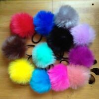 2x6CM Pompom Elastic Hair Ties Bobbles Fur Ball Ponytail Band Hair Accessories