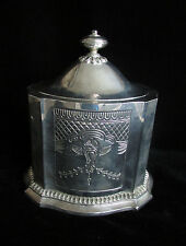 Silver Plated Ice Bucket Candy Cookie Jar Vintage Old Elegant Dinning Heart