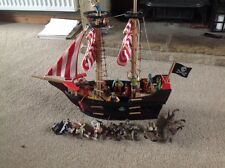 ELC Wooden Pirate Ship & figures