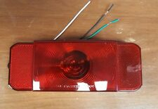 RV Tail Light -Stop, Tail, Turn, License Plate - Red Lens - Passenger Black Base
