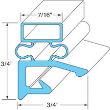 "Magnetic 3-Sided Door Gasket - 29 13/32"" x 69 1/16"""