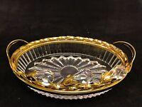 24K Gold plated Swarovski Tear Drop Crystal Element Tampered Glass Soap Dish