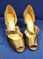 Clarks Bronze Grey Shoes Heels Women Used Ladies Size UK 6 EU 39 Wedding Party