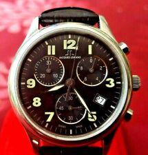 """Men's Chronograph Quartz Swiss Watch JACQUES LEMANS """"JL1006"""" 1/10sec  <VGU>"""