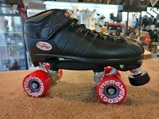 Riedell R3 OUTDOOR roller skate quad size 5 men's black fits size 6 women's