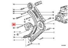 Genuine BMW E34 E36 E38 E39 Compact Sedan Chain Tensioner OEM 13522243950