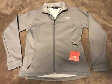 NWT The North Face Women's Light Grey 200 Cinder Fleece Mock Neck Jacket Coat M