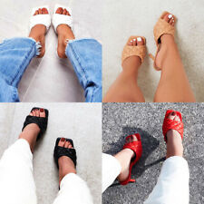 Womens Sandals Open Toe High Heel Stiletto Slip On Fashion Slippers Summer Shoes
