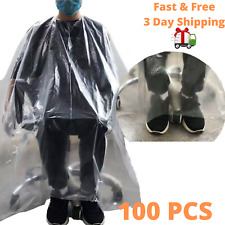 100PCS Disposable Hair Cutting Capes Hairdressing Barber Apron Dyeing Gown Cloak
