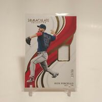 2019 Panini Immaculate Rick Porcello Game Used Jersey Patch Relic 3/99 SP Boston