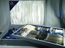 54 PC SET MID CENTURY MODERN  FLATWARE VAN DEN HOOGEN 100 SILVERPLATE THEIS & CO