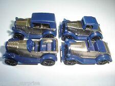 BLUE & CHROME VINTAGE MODEL CARS 1920's SET 1:87 H0 KINDER SURPRISE MINIATURES
