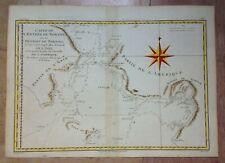 NORTH CANADA 1780 by RIGOBERT BONNE ANTIQUE MAP XVIIIe CENTURY IN COLORS