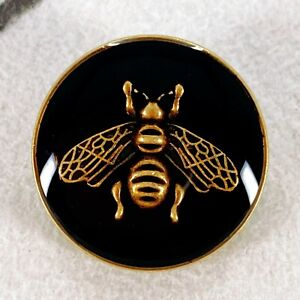 Authentic GUCCI Button ft. Classic Gold Bee, Metal 18mm Designer Buttons Jewelry