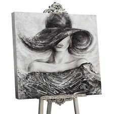 100% Handgemalt Acryl Gemälde handgemaltes Wand Bild Kunst Leinwand Charme