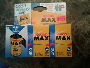 Kodak Max 400 Color Print Film Lot of 3 rolls EXPIRED