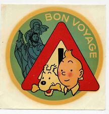 Tintin décalcomanie Bon voyage Hergé Comme neuf