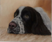 Spaniel Dog Oil Painting Portrait realism style