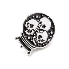 Pin Gothic Brooch Killstar Crystal Ball Enamel Witch Skull Pin's Broche Gothique