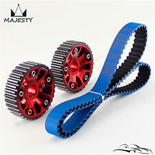Timing Belt +Cam Gear Pulley For Honda B18C Integra GSR 94-01 / Type-R 97-01 Red