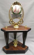 theme Baseball 3 post trophy wooden bat legs