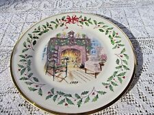 Lenox 1999 Annual Holiday Plate #9 Usa Winter Warmth fireplace 10 3/4""