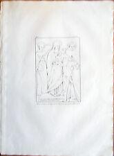 ✅Stampa incisione 1850s Pittura Madonna con Gesù e Santi Scuola Napoletana CLXI