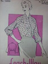 UNCUT VINTAGE 1950'S LEACH-WAY BLOUSE SEWING DRESSMAKING PATTERN