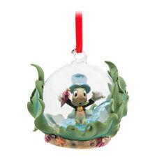 Disney Store JIMINY CRICKET GLASS GLOBE Sketchbook Ornament Jiminey NEW 2017