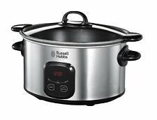 Russell Hobbs 6-Ltr 220-240 Volt Digital Slow cooker St Steel 220V-240V Export