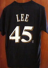 MILWAUKEE BREWERS med T shirt Carlos Lee #45 baseball first baseman 2005