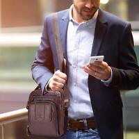 BULLCAPTAIN Shoulder Bags Casual Men Business Genuine Leather Crossbody Bag Pack